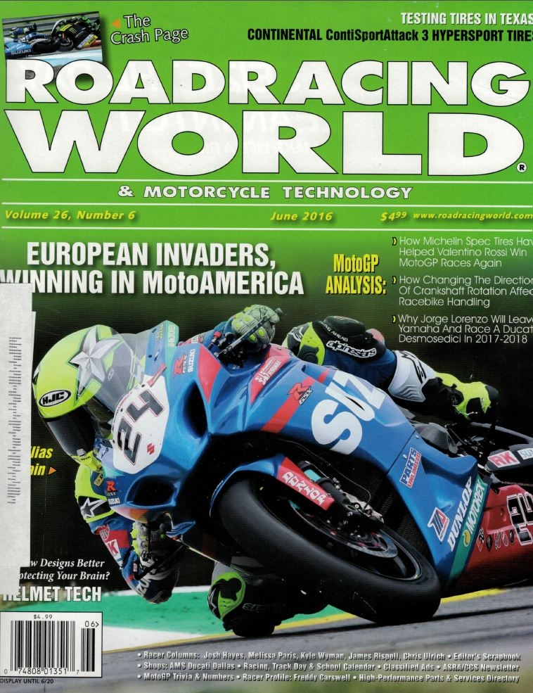 Street Marketing RoadRacing World June 2016 Pg 1